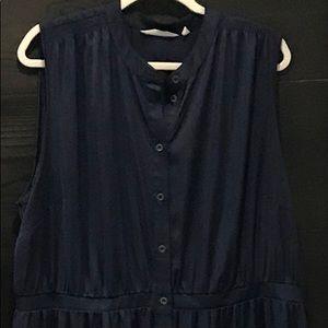 Soft Surroundings sleeveless navy blue dress